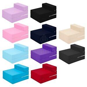 Fold Out Futon Single Guest Z Bed Chair Folding Mattress Sofa Bed Foam Mattress