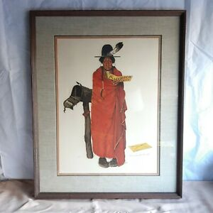 """Norman Rockwell """"See America First"""" 11/200 Original Signed Lithograph"""