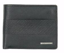 NWOT. Men/'s Billabong Grit Black Leather Flip Wallet RRP $49.99