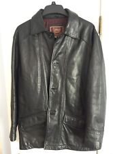 c91701b1b44 Colebrook American Classics Black Leather Button Up Jacket Mens Size M