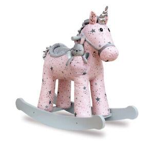 Little Bird Told Me Celeste & Fae Rocking Unicorn 12m+ Ride On With Soft Fabric