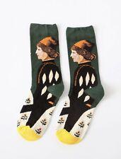 Beautiful rococo baroque Tudor art inspired cotton socks, National Trust