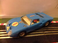 Scalextric Exin Ford GT Ref. C 35 Azul n 6 Made in Spain