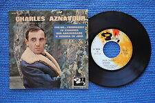 CHARLES AZNAVOUR / EP BARCLAY 70518 / LABEL 3 / BIEM 1963 ( F )