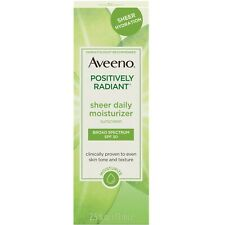 Aveeno Positively Radiant Sheer Daily Moisturizer SPF 30, 2.5 Fl. Oz