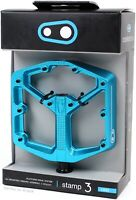Crank Brothers Stamp 3 - Large - Electric Blue - Platform MTB / Downhill Pedals