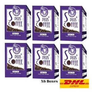6X Bota-P S Plus Coffee Weight Loss Beautiful Slim figure Sugar-Free (12gX17)