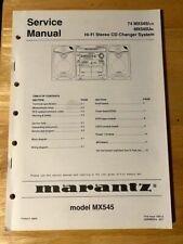 Original Service Manual for the Marantz MX545 - Stereo CD System