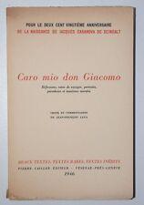 Caro mio don Giacomo, Casanova, Pierre Cailler Éditeur, Genève 1946