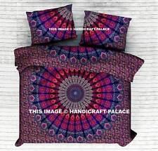 Indian Mandala Blanket Queen Comforter Reversible Hippie Doona Duvet Quilt Cover