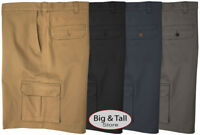 Haggar Big & Tall Men's Cargo Shorts with Expandable Waistband Sizes 44 – 60