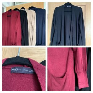 Ladies MARKS AND SPENCER COLLECTION  long length cardigan - sizes XS - XL - vari