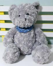 Target Large Grey Teddy Bear with Blue Bandana Plush Toy 32cm Tall Seated!