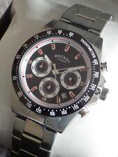 Rotary Men's GB03637/04 Chronograph Bracelet Swiss Luminous Watch RRP £229 NEW
