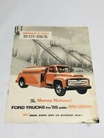 1955 Ford trucks F 700 series brochure catalog Vintage The Money Makers Read