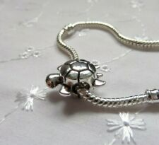 Silver Plated TORTOISE TURTLE Bead Fits European Charm Bracelet, Ideal Gift