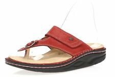Womens FINN COMFORT Calmasino 160185 Red Leather Slides sz. 37