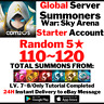 [Global] [Instant] 110-120 Summons NAT 5 Summoners War Starter Account