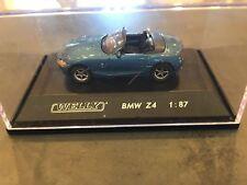 BMW e85 Z4 convertible blue diecast model car 73103 Welly 1/87