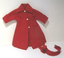 Vintage red coat and headband for a Terri Lee sized doll homemade high quality
