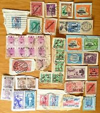 WORLD 1900-70 DUPLICATED LOT OF ON PAPER OVERPRINTS AND SURCHARGES (40)