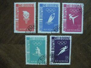 Rumänien Mi.-Nr. 1598-1602, Olympiade Melbourne kpl. gest.