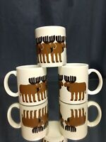 SET OF 3 BARELY USED Vintage Taylor & Ng Moose Mugs NEAR MINT Coffee