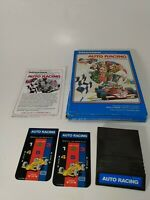 Intellivision Game AUTO RACING Mattel Tested & Works Complete in Box