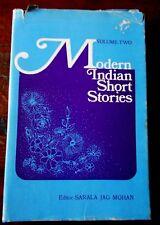 Vintage MODERN INDIAN SHORT STORIES, VOLUME TWO: S MOHAN  h/c d/j India