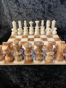 Schachspiel aus Marmor - nicht bespielt sehr guter Zustand
