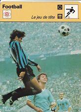 FOOTBALL carte joueur fiche photo ALTOBELLI équipe INTER MILAN