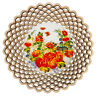 Cookie Snack Chips Candy Serving Platter Bowl Dish w/ FLORAL Pattern