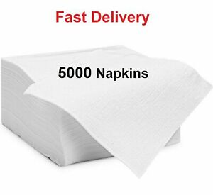 White Paper Napkins 1 Ply Tissue Serviettes/Napkins for Cafe Takeaway Restaurant