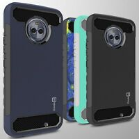 For Motorola Moto X4 (X 4th Gen) Case - Hard Armor Cover with Carbon Fiber