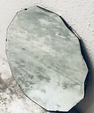 Art Deco Polygon Shaped~beveled mirror w/ Hanging chain c. 1920's