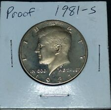 1981 s 1981-s 1981s proof Kennedy half dollar type 1