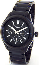FOSSIL BQ1509 BLACK TONE STAINLESS STEEL CASE FACE METAL BAND MENS CHRONOGRAPH