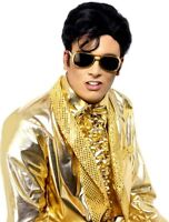 Elvis Presley Licensed Sunglasses Mens Gold Specs Elvis Fancy Dress Accessory