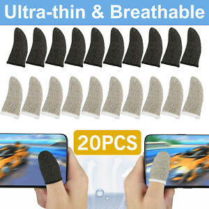20Pcs Screen PUBG Gaming Finger Sleeve Game Controller Mobile Sweatproof Gloves