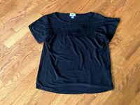 Women's Old Navy Black Rayon Top Size Small