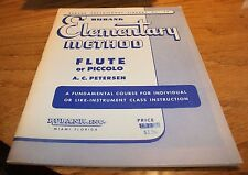 Elementary Method Flute or Piccolo A.C. Petersen