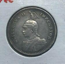 1901 German East Africa 1/4 Rupie Rupee - Nice Silver