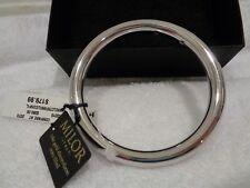 Milor of Italy 14K Silver Bangle Round Bracelet Highly Polish-NWT