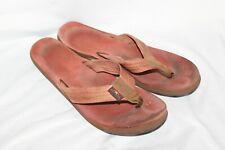 "RAINBOW Sandals Flip Flops Pink Regular Straps Womens Size 8? 10.75"" Leather"