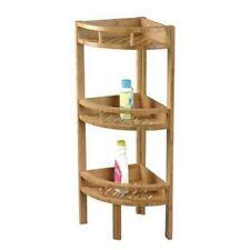 Estantería de ángulo Bambú natural 3 niveles Cuarto de baño Cocina H 85 cm