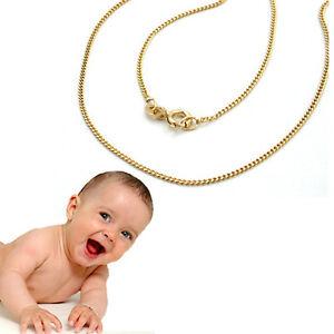 Baby Kinder Hals Kette Echt Gold 333 8 Kt Panzerkette Collier Länge 36 cm Neu