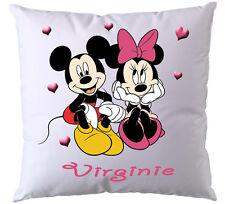 Coussin Disney Minnie Mickey personnalisé avec prénom V2
