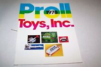 Vintage Toy Catalog #113 - PROLL TOYS ( 1978 )