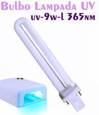 Bulbo 9W per lampada fornetto ricostruzione UV.9 W,mani,bulbi ultravioletti
