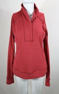 Lululemon Athletica Women's Stretch Striped Red/Pink Running Jacket Sz 8